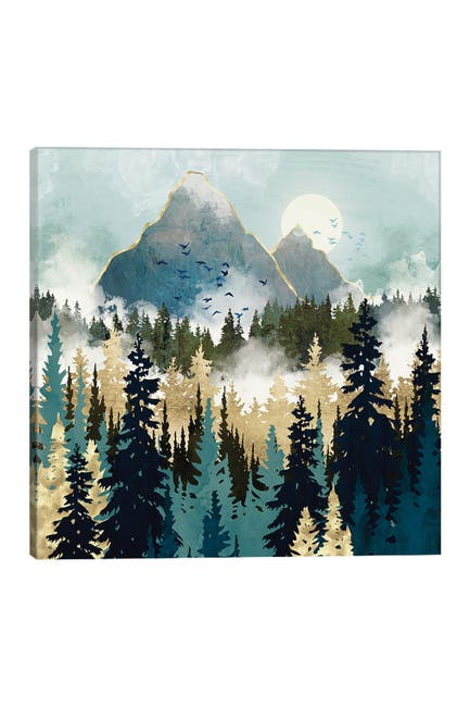 Image of iCanvas Misty Pines by SpaceFrog Designs Canvas Art