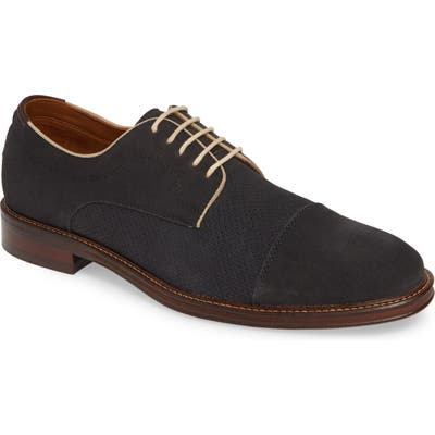 Johnston & Murphy Warner Cap Toe Derby- Blue
