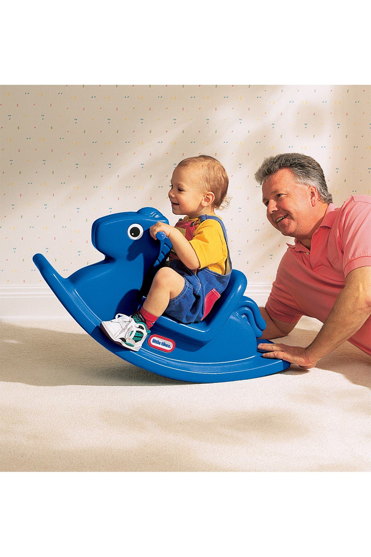 Image of Little Tikes Rocking Horse - Primary Blue
