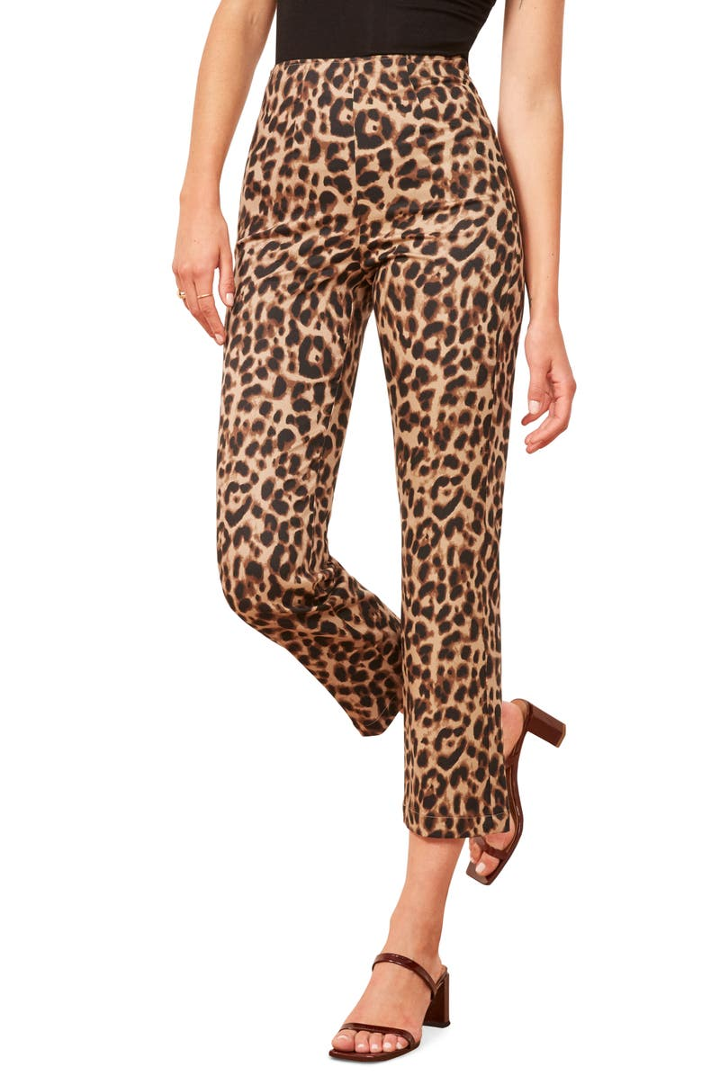 REFORMATION Marlon Pants, Main, color, LEOPARD