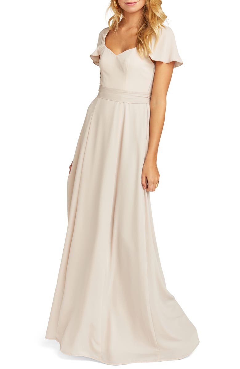 SHOW ME YOUR MUMU Marie Sweetheart Gown, Main, color, SHOW ME THE RING