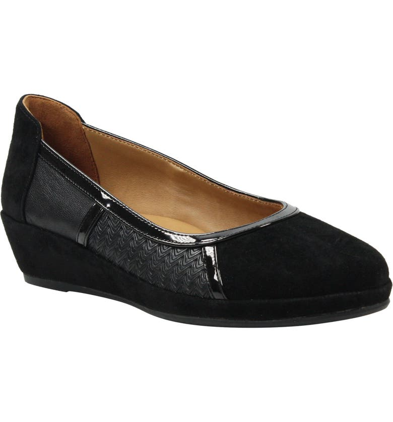 L'AMOUR DES PIEDS Betty Jane Wedge, Main, color, BLACK SUEDE