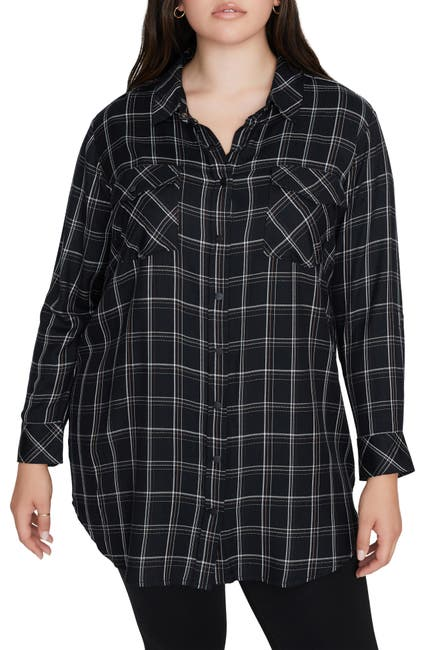 Image of Sanctuary Main St. Plaid Boyfriend Tunic