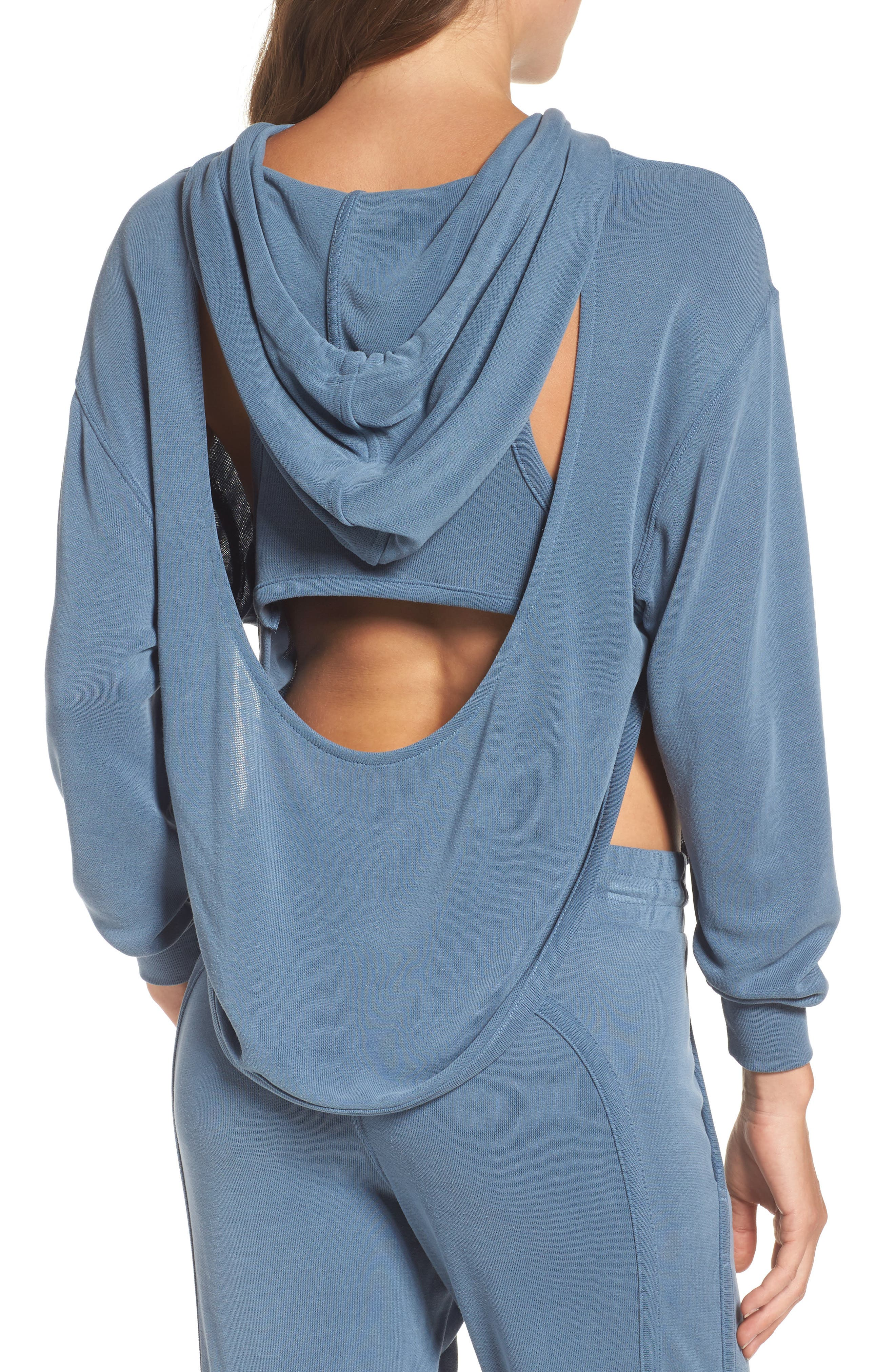 ,                             Back Into It Cutout Hoodie,                             Alternate thumbnail 2, color,                             400