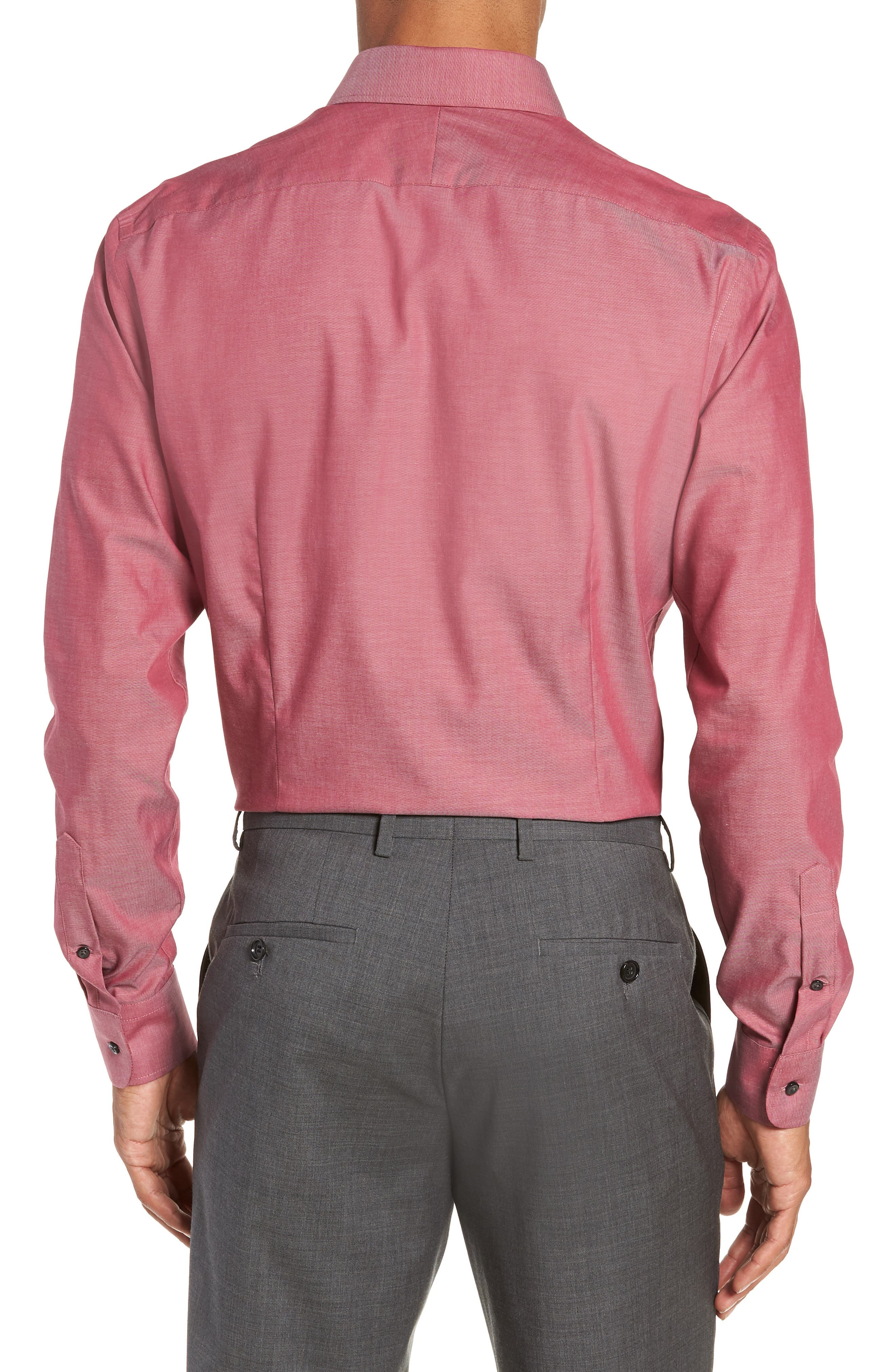 ,                             Extra Trim Fit Non-Iron Solid Dress Shirt,                             Alternate thumbnail 39, color,                             601