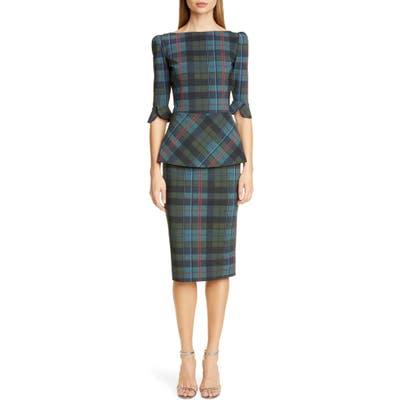 Chiara Boni La Petite Robe Edelumi Print Cocktail Dress, US / 48 IT - Black