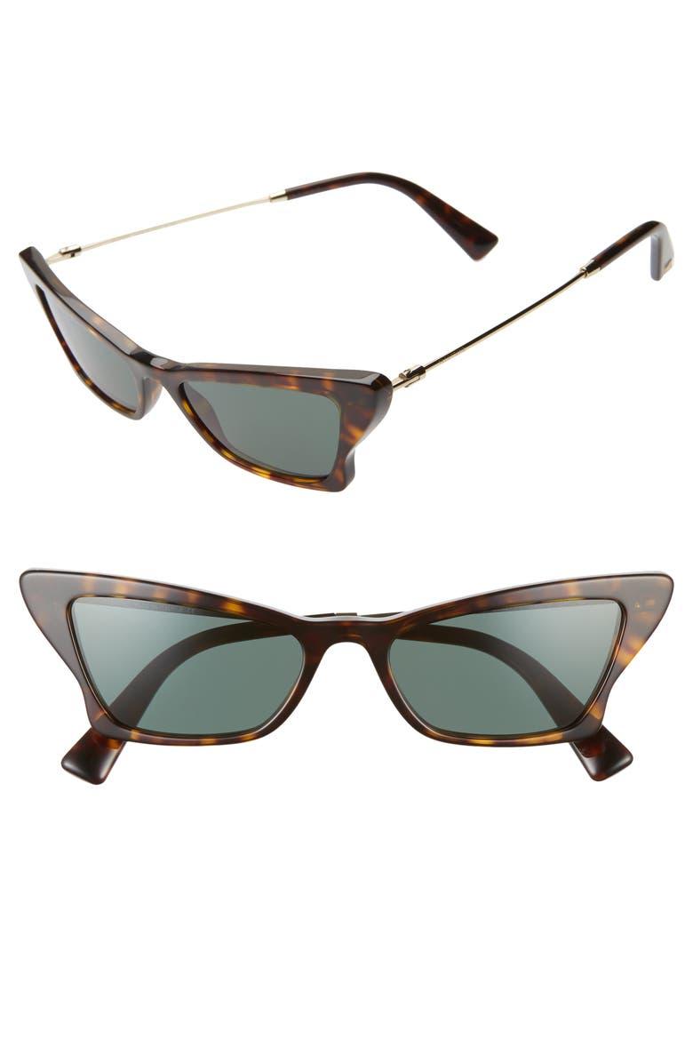 VALENTINO 53mm Cat Eye Sunglasses, Main, color, 200