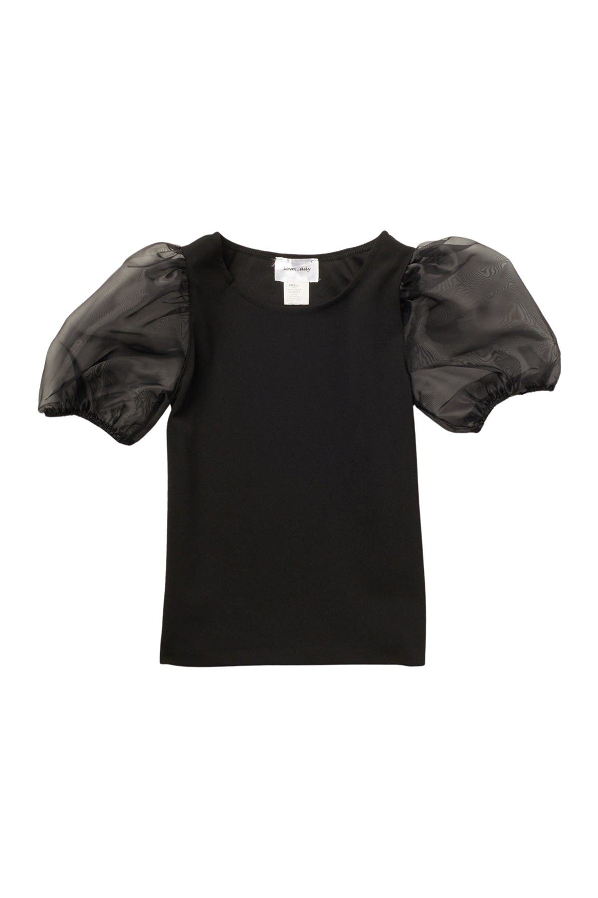 Image of Love...Ady Sheer Puff Sleeve Top