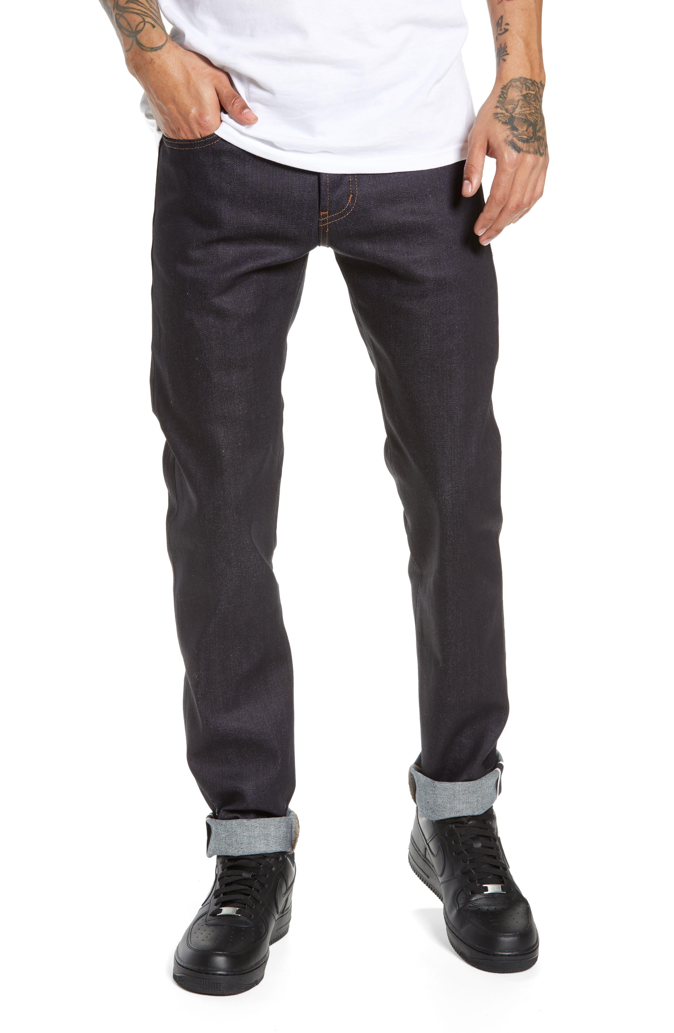 Men's Naked & Famous Denim Super Skinny Guy Skinny Fit Selvedge Jeans