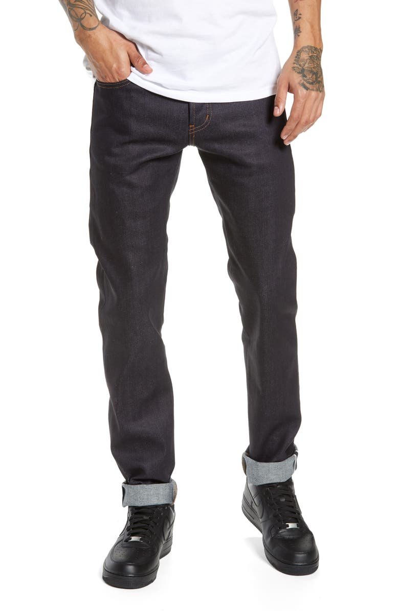 NAKED & FAMOUS DENIM Super Guy Skinny Fit Jeans, Main, color, NIGHTSHADE STRETCH SELVEDGE