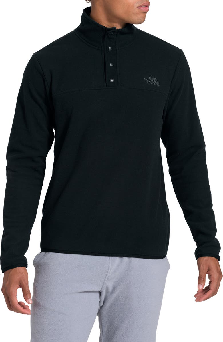 THE NORTH FACE TKA Glacier Snap Neck Pullover, Main, color, 001