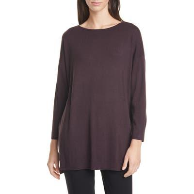 Eileen Fisher Bateau Neck Sweater, Purple