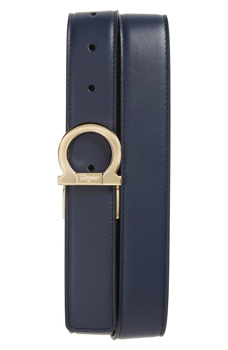 Salvatore Ferragamo Reversible Gancio Buckle Leather Belt ...