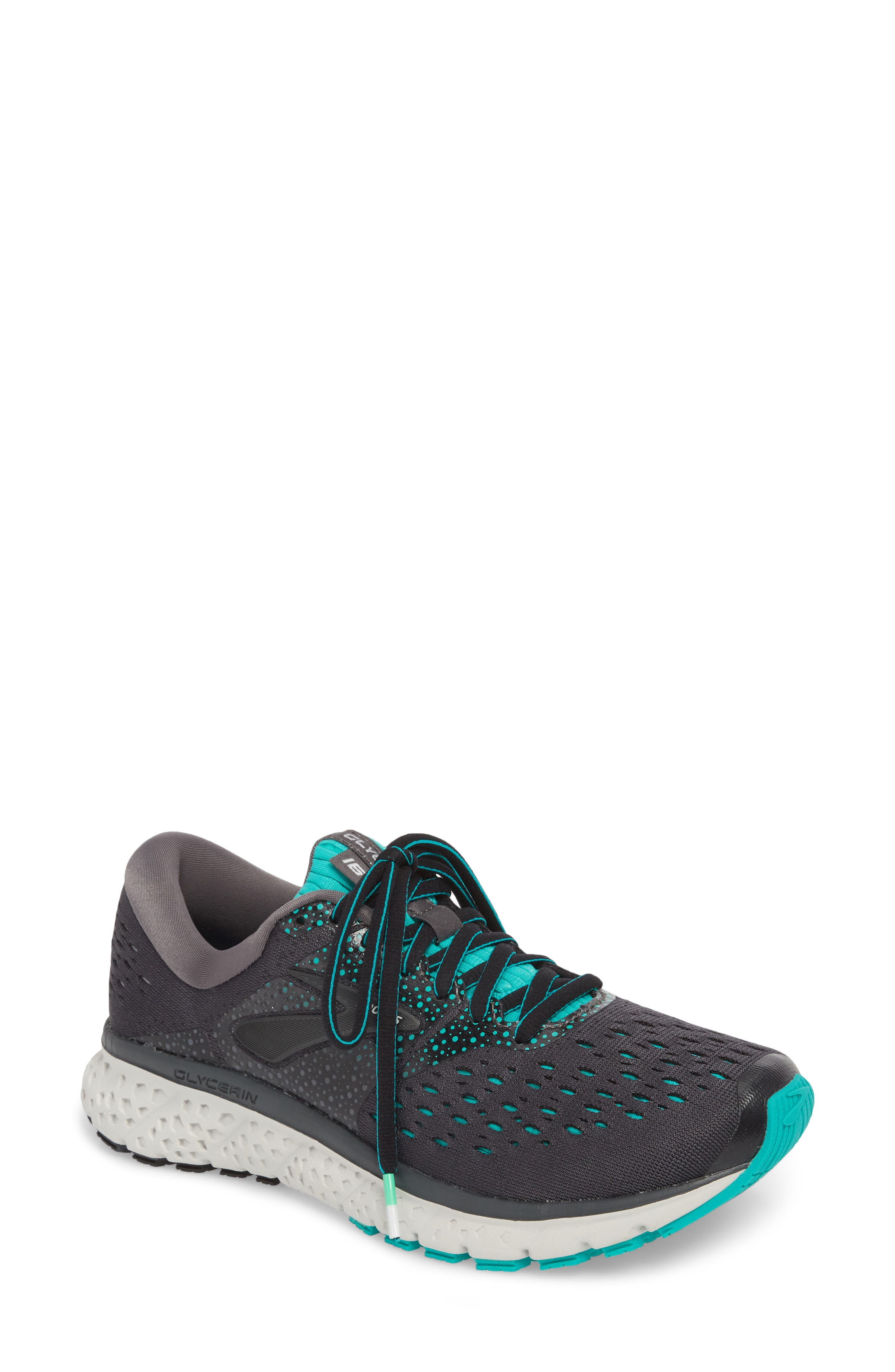 Glycerin 16 Running Shoe, Main, color, EBONY/ GREEN/ BLACK