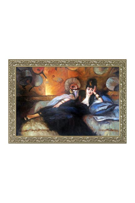"""Image of Overstock Art Lady with Fans, Portrait of Nina de Callais with Rococo Silver - 29.5"""" x 41.5"""""""