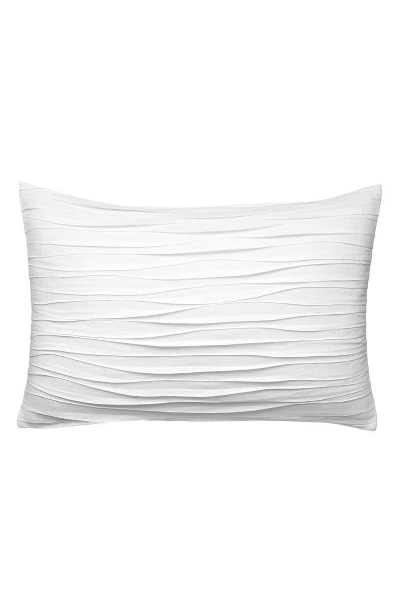 VERA WANG Marble Shibori Waves Accent Pillow, Main, color, WHITE