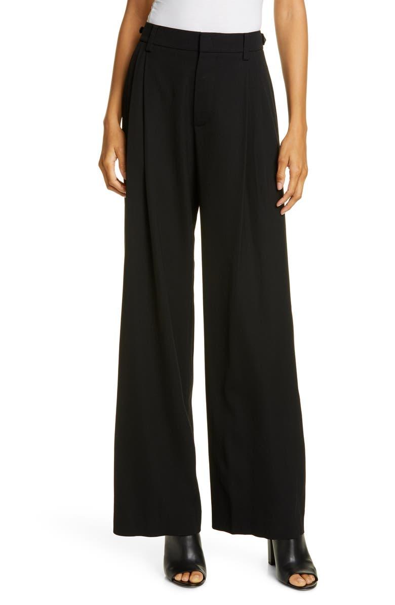 VINCE Wide Leg Trousers, Main, color, BLACK