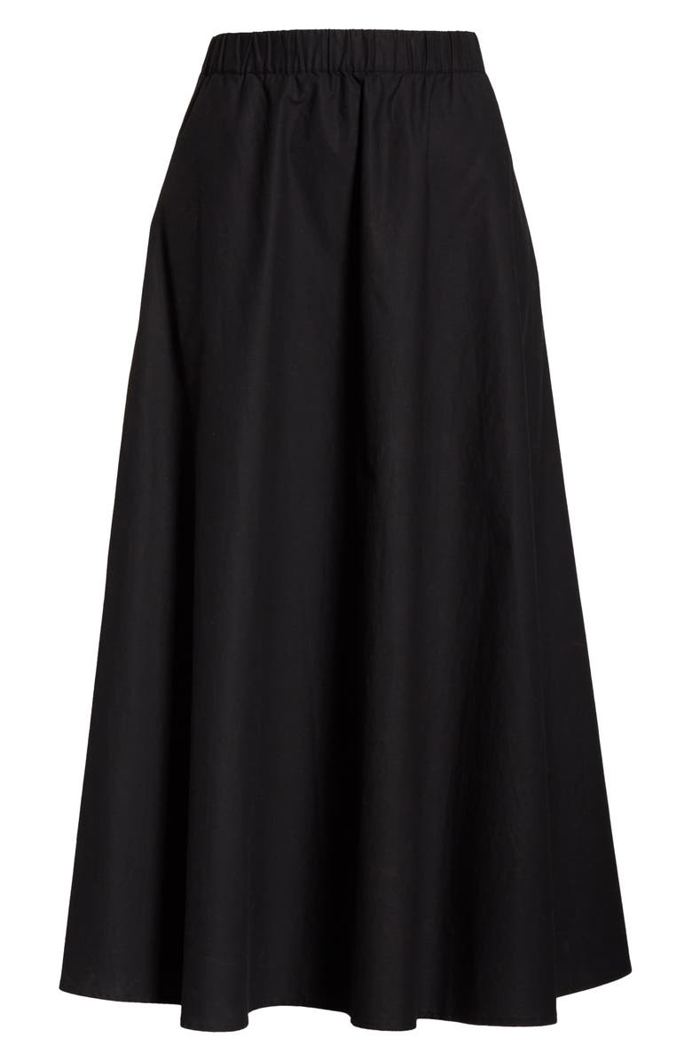 EILEEN FISHER Organic Cotton Circle Skirt, Main, color, 001
