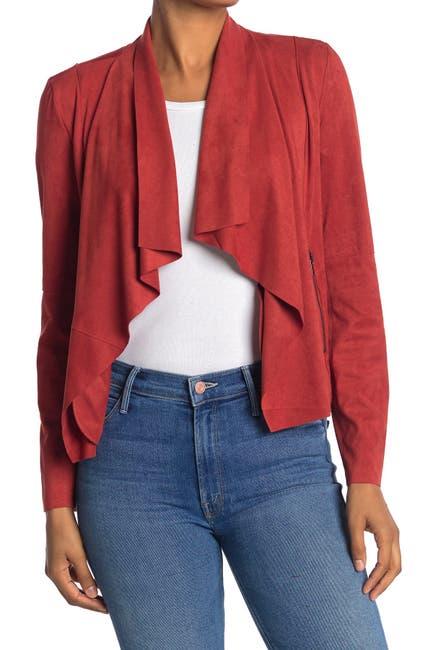 Image of Bagatelle Faux Suede Drape Jacket