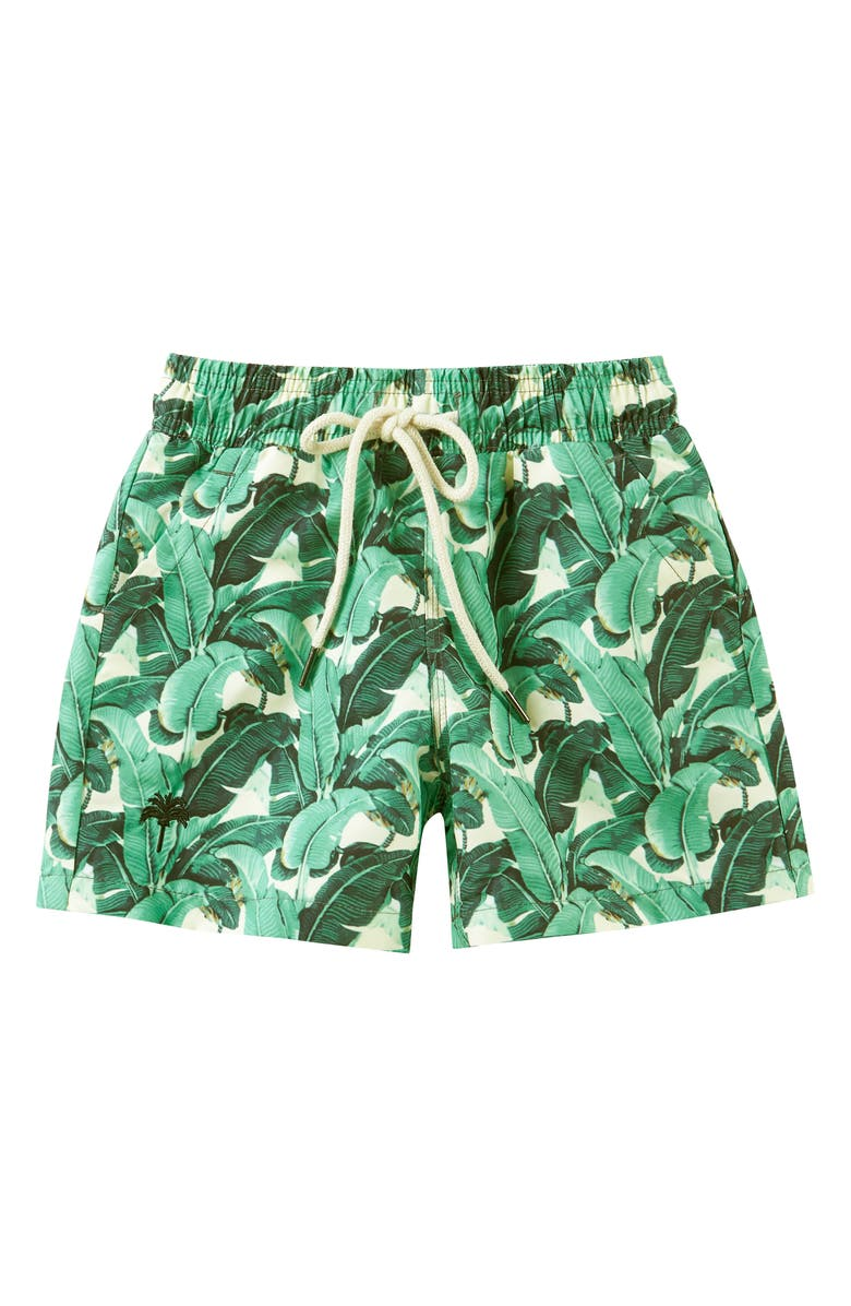 OAS SWIM Banana Leaf Swim Trunks, Main, color, GREEN
