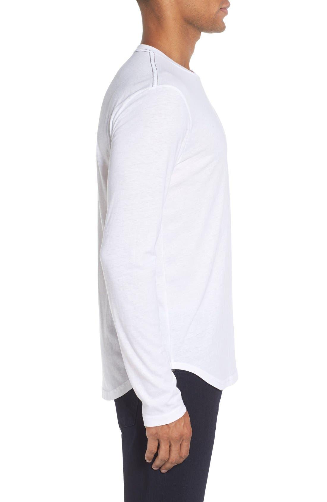 ,                             Triblend Scallop Long Sleeve Crewneck T-Shirt,                             Alternate thumbnail 15, color,                             100