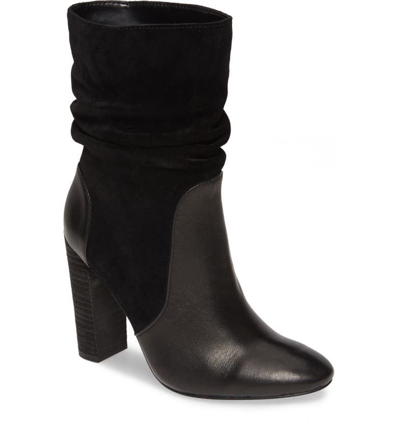 CHARLES DAVID Indy Bootie, Main, color, BLACK LEATHER/ SUEDE