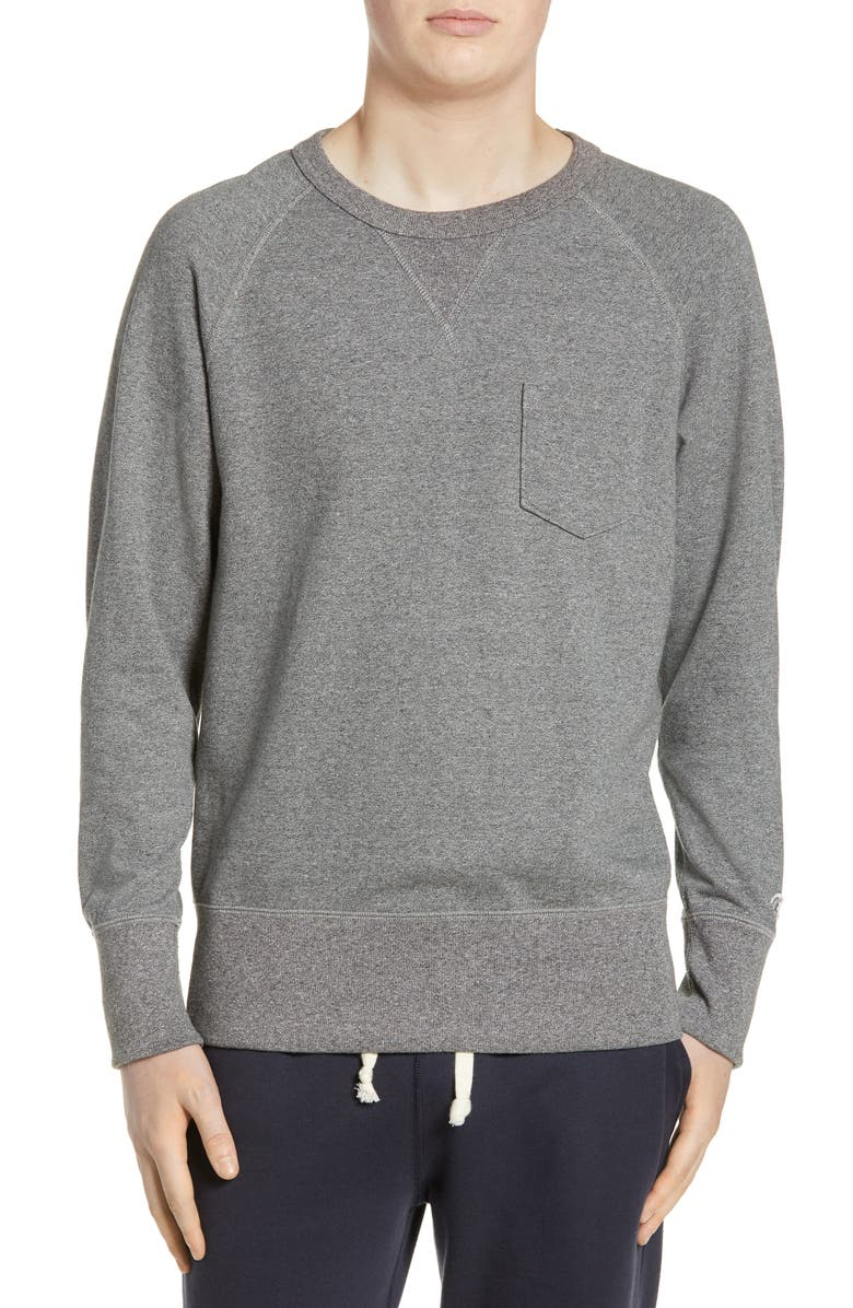 TODD SNYDER + CHAMPION Classic Pocket Sweatshirt, Main, color, SALT AND PEPPER