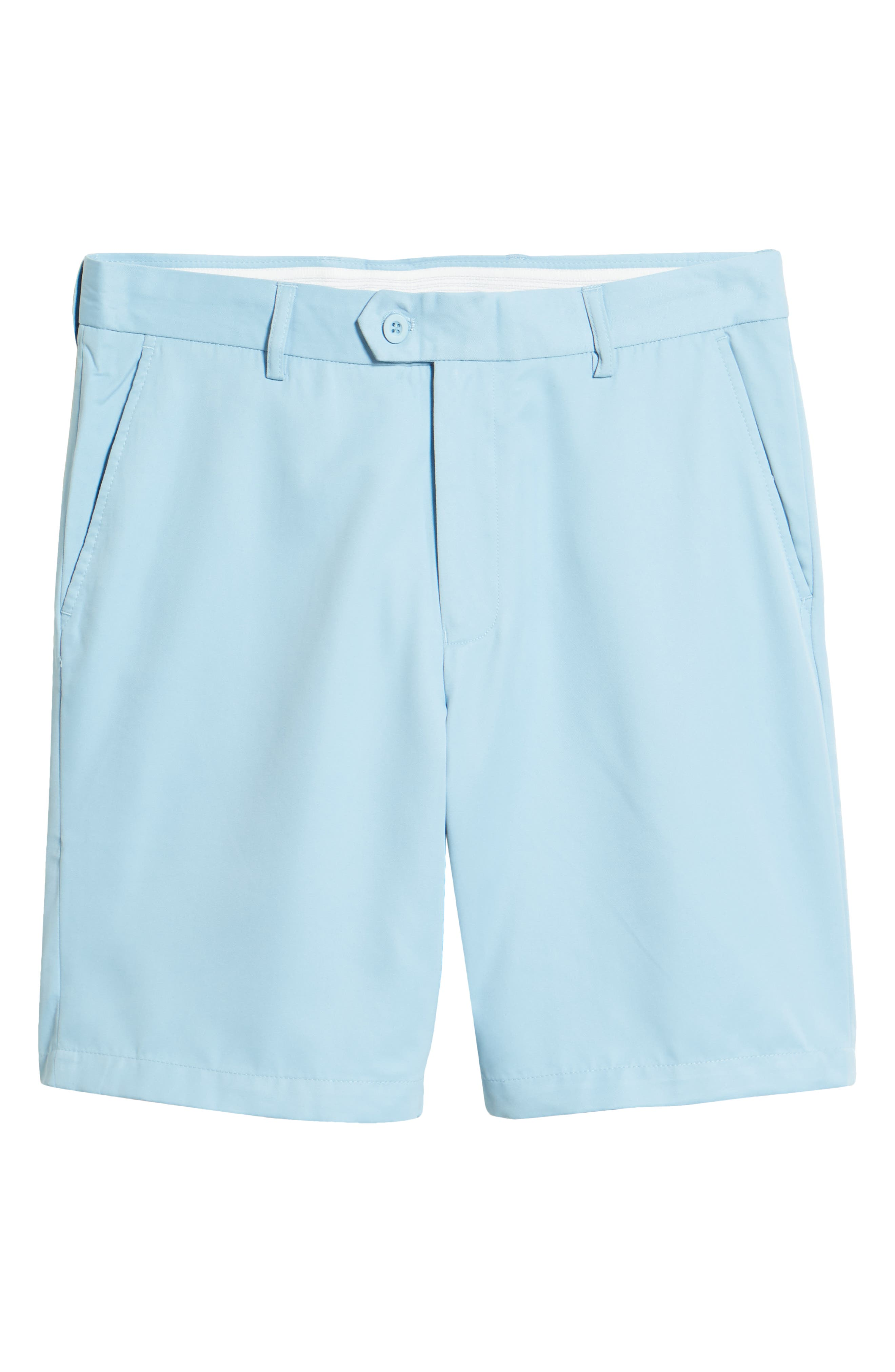Vintage Style Mens Shorts Mens Big  Tall Bugatchi Classic Fit Bermuda Shorts Size 44 - Blue $98.00 AT vintagedancer.com