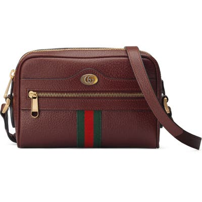 Gucci Minimini Leather Crossbody Bag - Burgundy