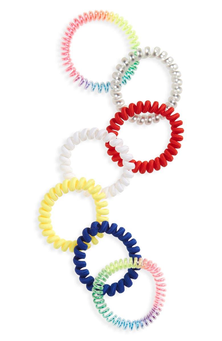 BP. Be Proud by BP. 7-Pack Gender Inclusive Assorted Hair Ties, Main, color, MULTI