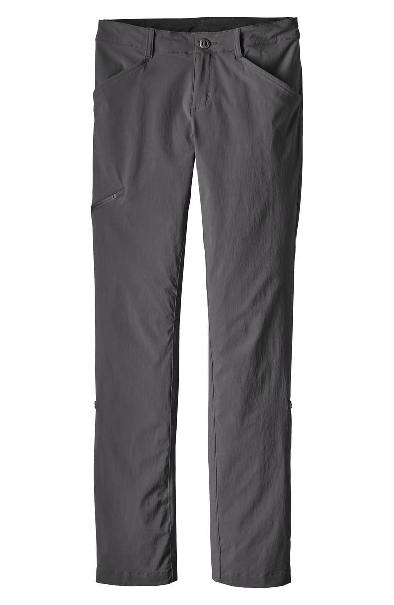 PATAGONIA Quandary Convertible Pants, Main, color, FORGE GREY