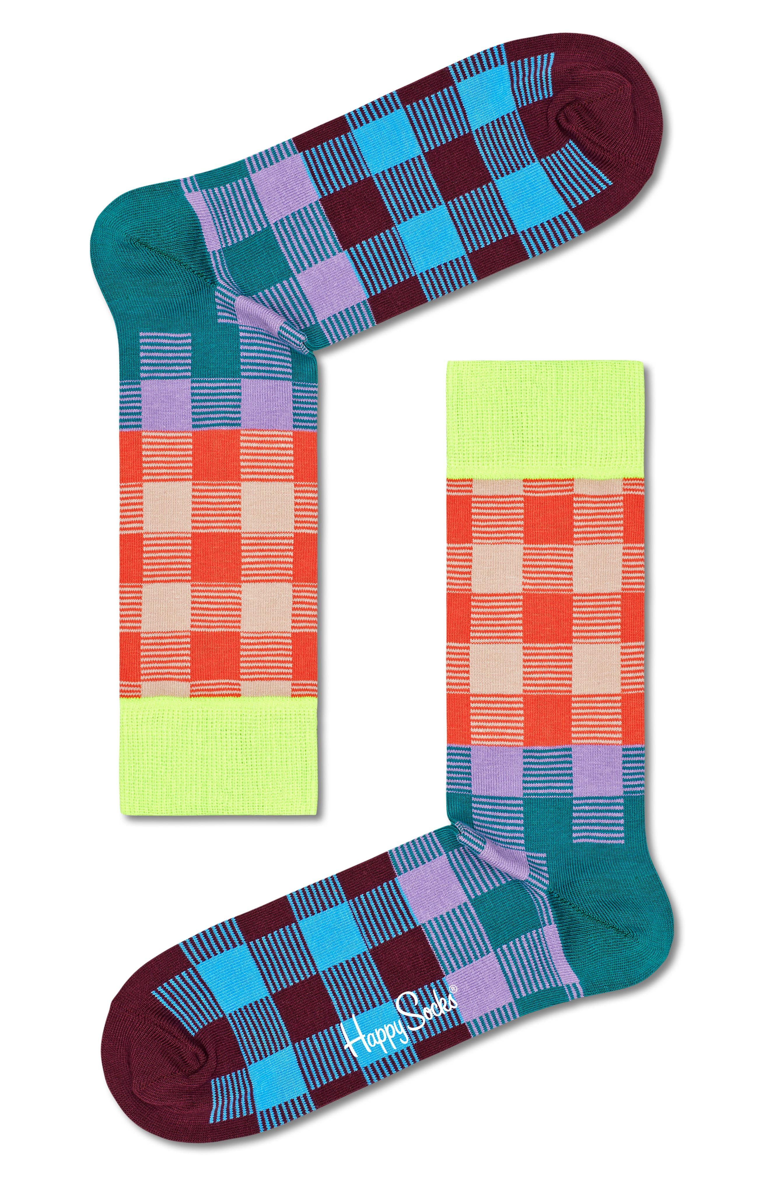 Women's Happy Feet Electric Assorted Love Crew Socks