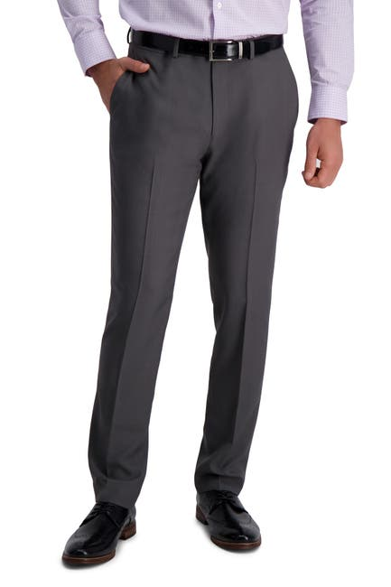 Image of Louis Raphael Slim Fit Stretch Striated Solid Pants