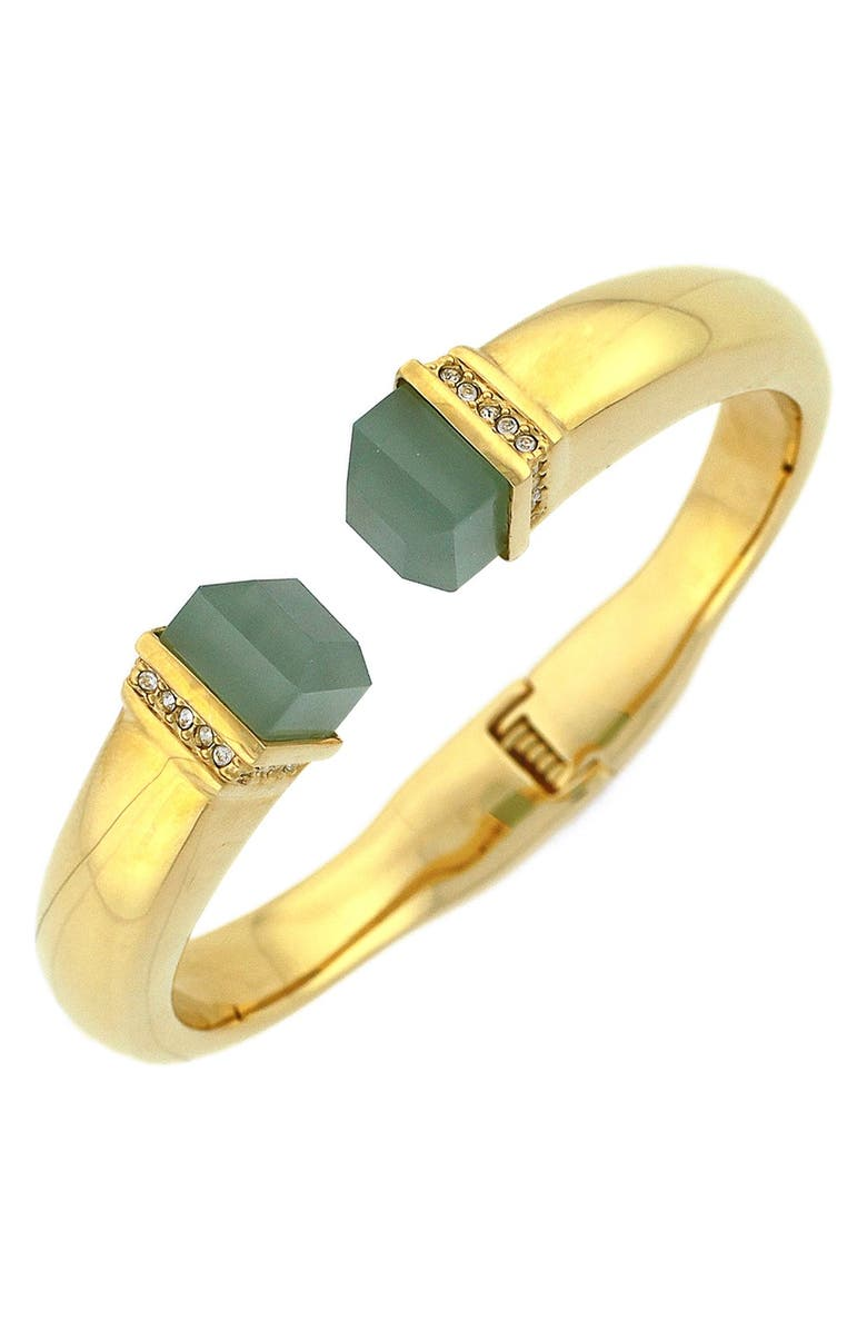 LOUISE ET CIE Stone Tip Hinged Cuff, Main, color, 300