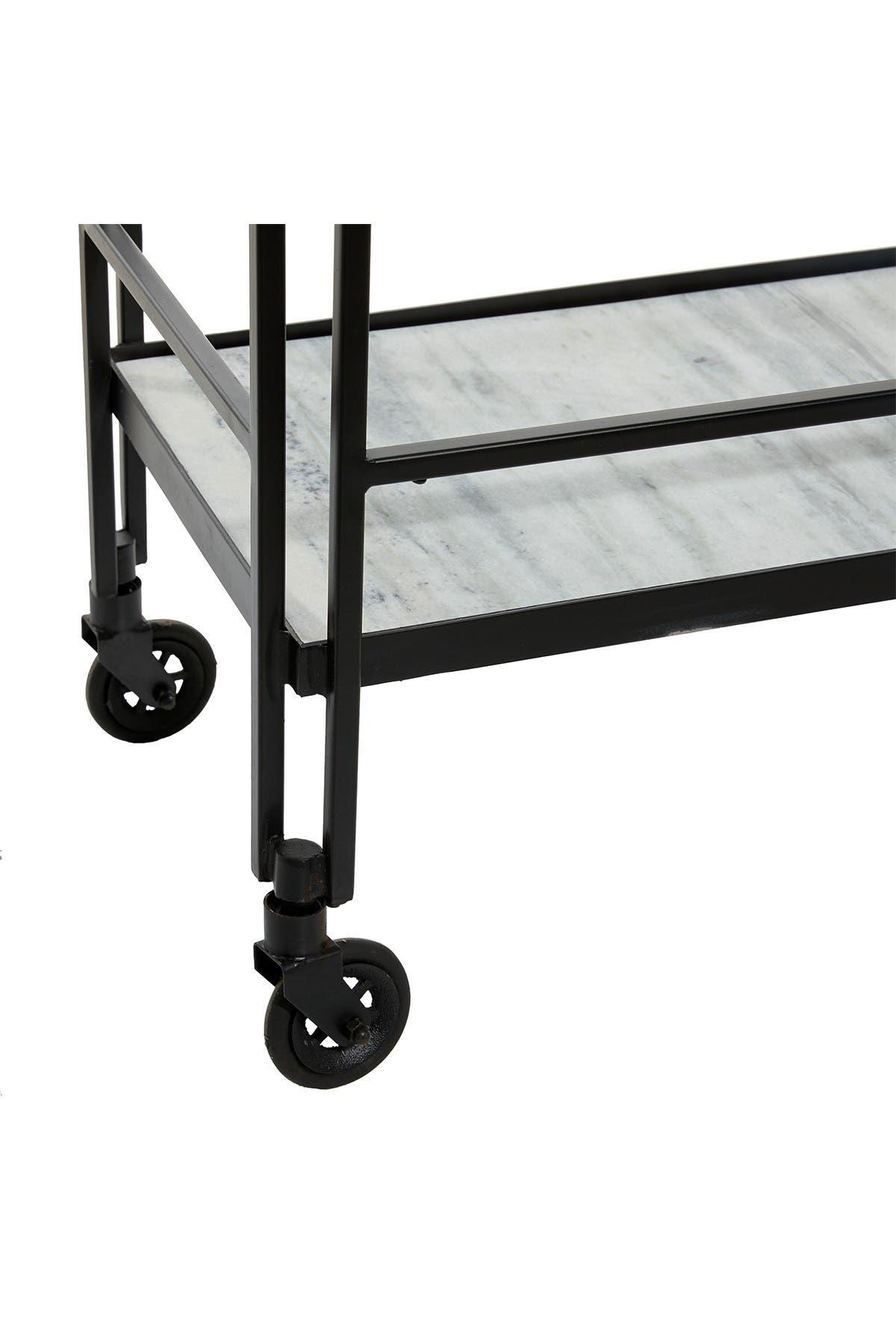Image of Willow Row Rectangular Metal Bar Cart