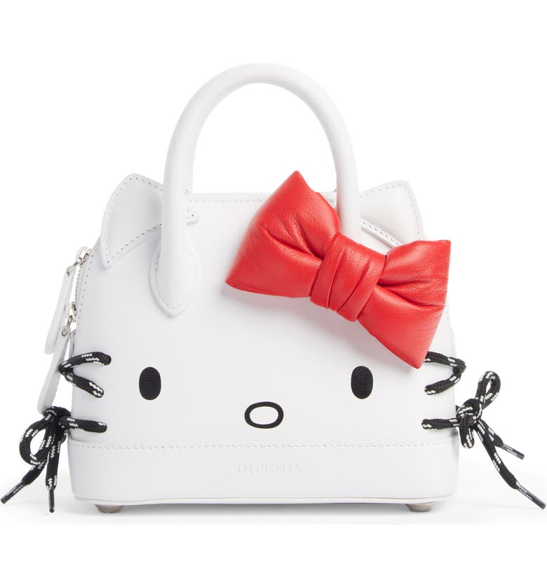BALENCIAGA x Hello Kitty<sup>®</sup> XXS Top Handle Bag, Main, color, 100
