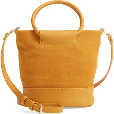 Sole Society Debdi Suede & Faux Leather Crossbody Bag - Yellow