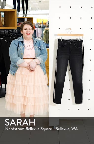 Alissa Side Stripe Ankle Skinny Jeans, sales video thumbnail