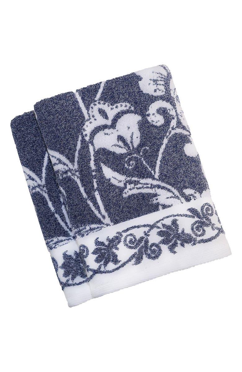 LINUM HOME TEXTILES Linum 'Penelope' Turkish Cotton Bath Towels, Main, color, OCEAN BLUE