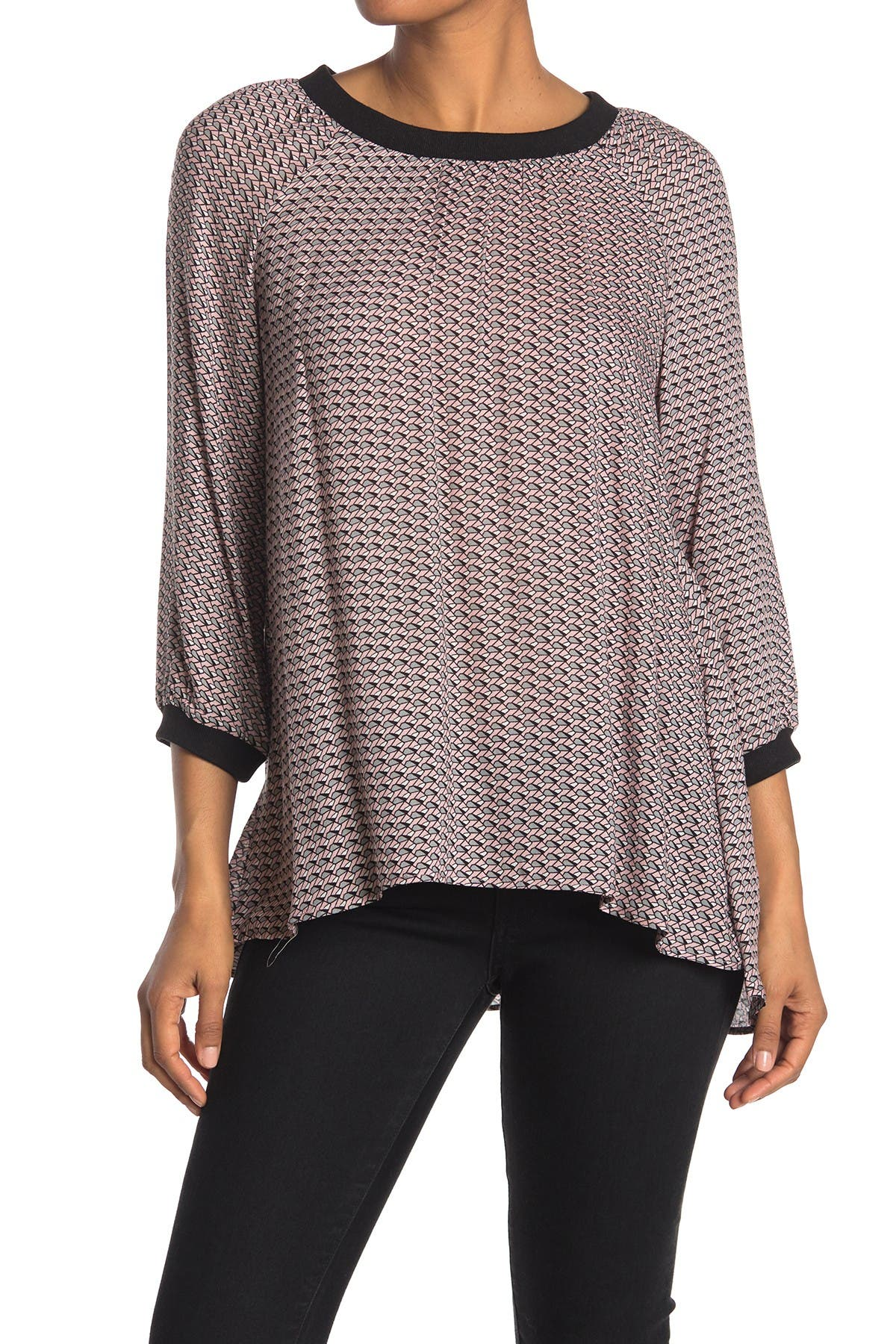 Image of DR2 by Daniel Rainn High Low Knit Tunic Top