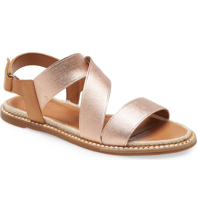 CASLON<SUP>®</SUP> Dalila Elastic Sandal, Main, color, ROSE GOLD ELASTIC FABRIC
