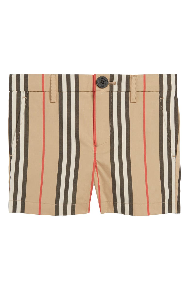 BURBERRY Nicki Stripe Shorts, Main, color, ARCHIVE BEIGE