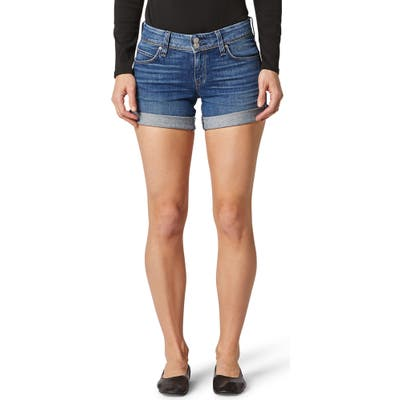 Hudson Jeans Croxley Cuff Denim Shorts, 7 - Blue