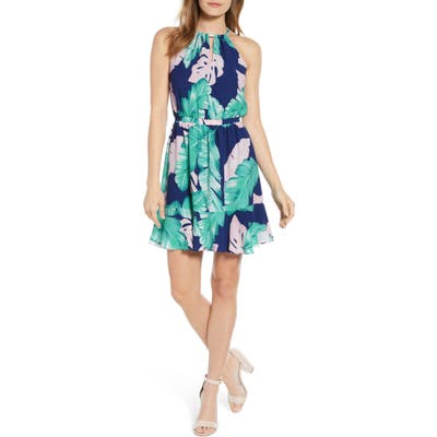 Gibson X Living In Yellow Calla Keyhole Halter Neck Dress, Green (Regular & Petite) (Nordstrom Exclusive)