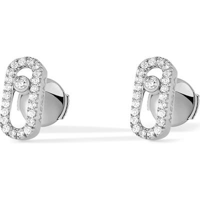 Messika Move Uno Pave Diamond Stud Earrings