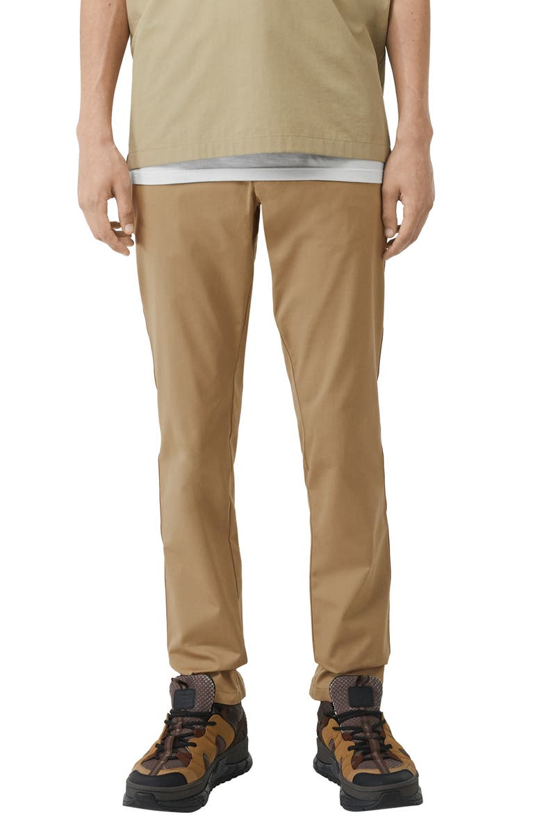 BURBERRY Shibden Slim Fit Chinos, Main, color, HONEY