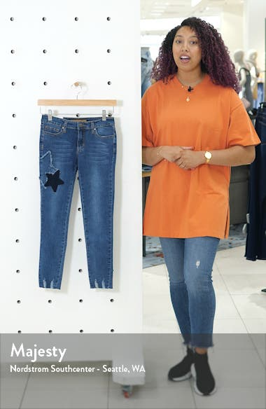 Markie Star Patch Skinny Jeans, sales video thumbnail