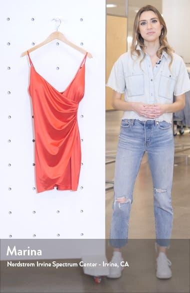 Sleeveless Satin Envelope Cocktail Dress, sales video thumbnail