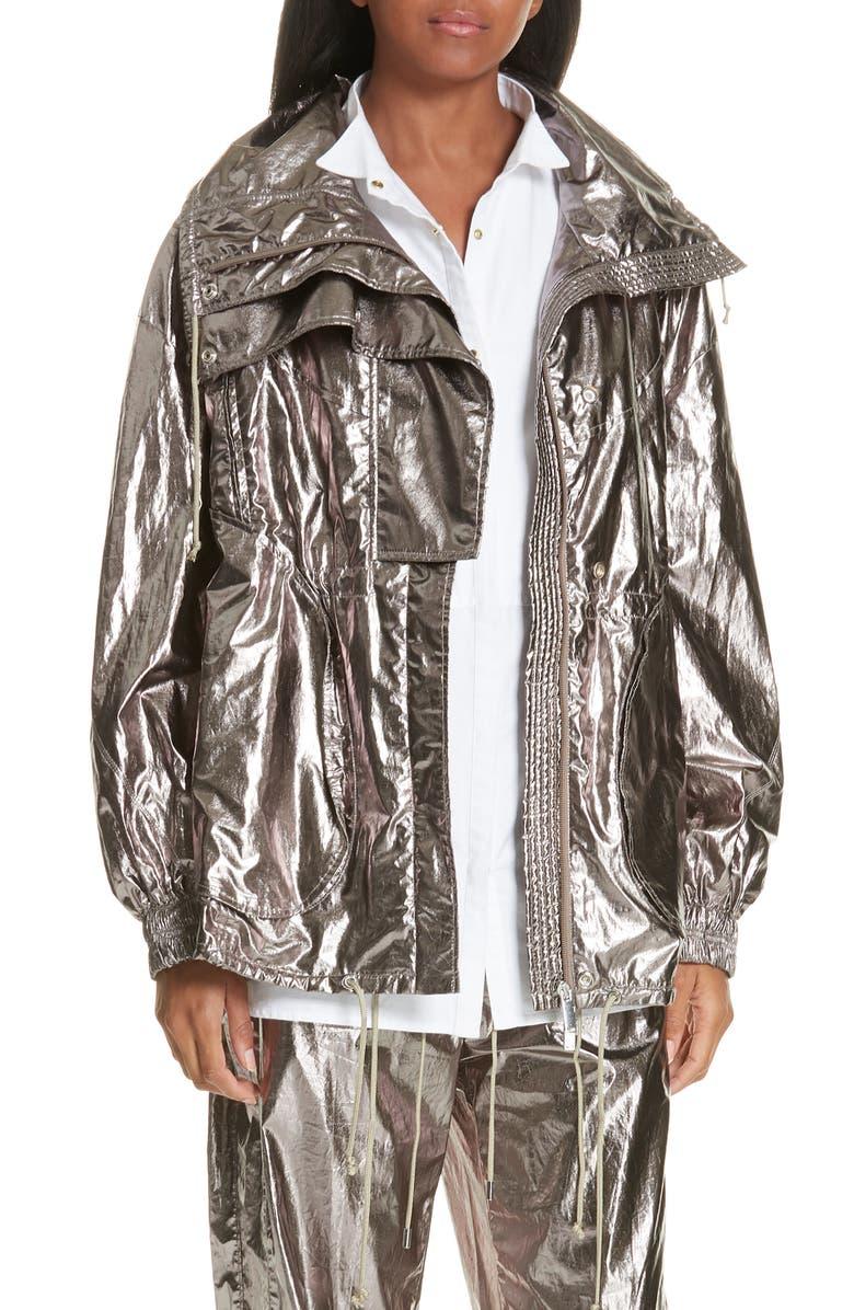 JASON WU Metallic Foil Jacket, Main, color, 040
