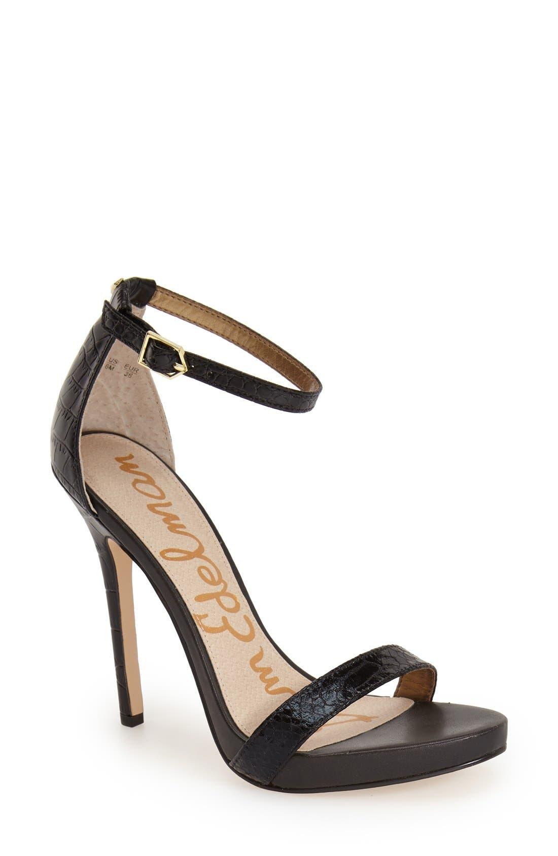 ,                             'Eleanor' Ankle Strap Sandal,                             Main thumbnail 37, color,                             007